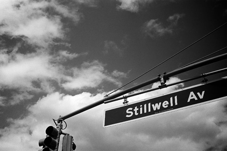 Stillwell Avenue street sign.