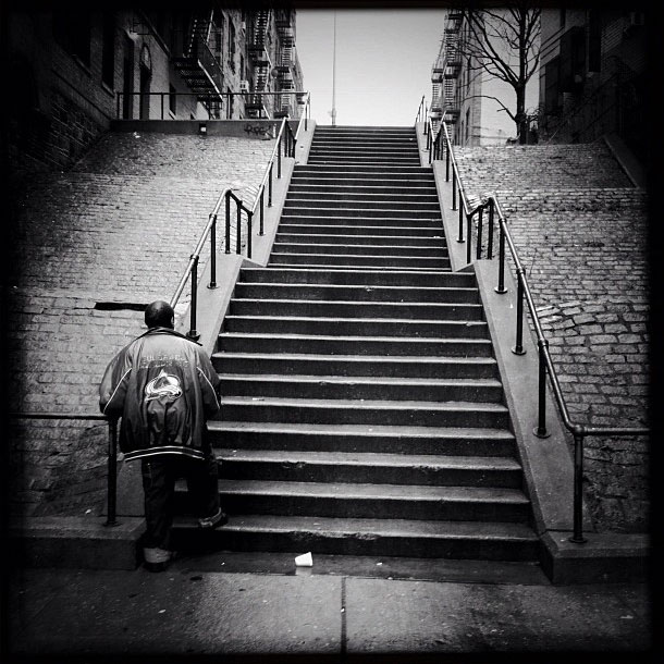 Staircase in the Bronx.